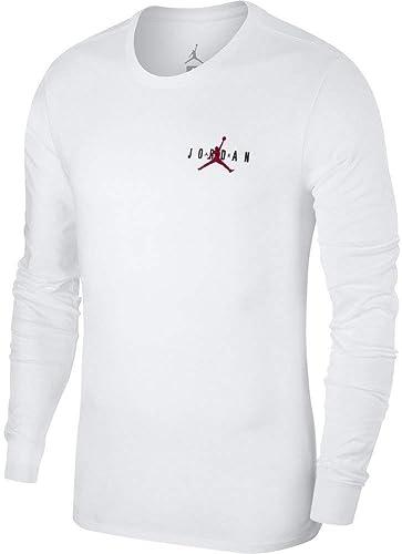 Jordan T-Shirt à Manches Longues Sportswear Air Jumphomme Blanc M (Medium)