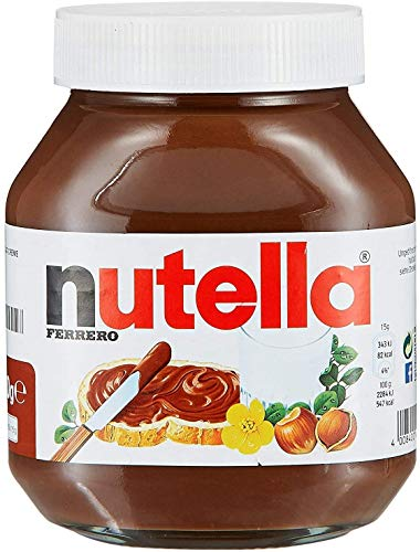Nutella Chocolate Hazelnut Spread IMPORTED 350g Glass