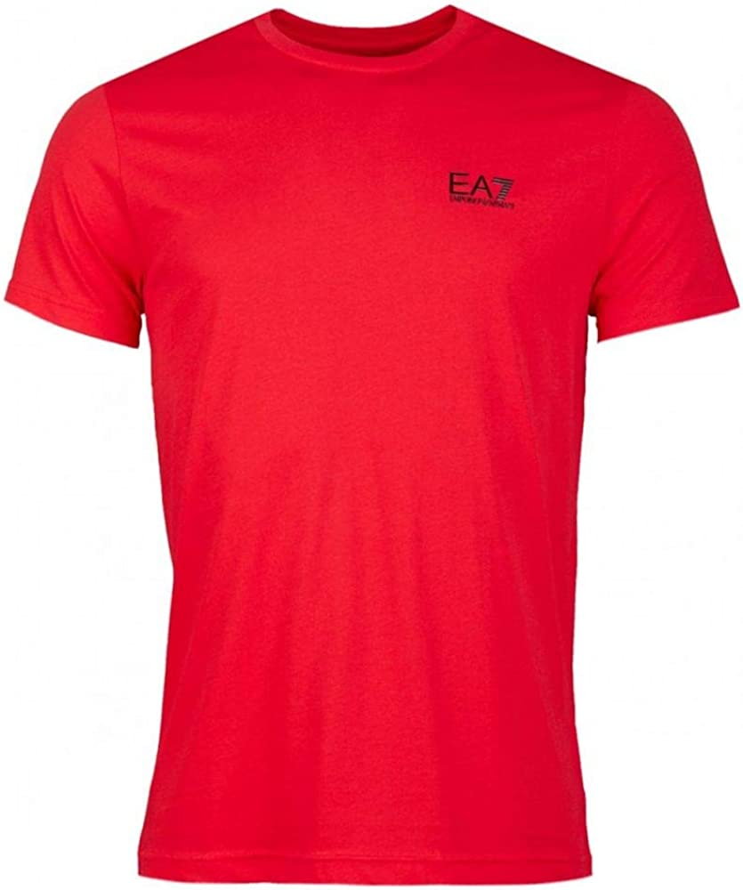 Emporio armani ea7 t-shirt, maglietta da uomo manica corta, 100% cotone 8NPT51PJM9Z