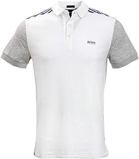 Hugo Boss Mens Short Sleeve Paule Pro Navy Blue Open Blue Large
