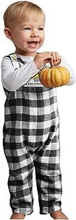 噂体操選手アシスタントSakuranbo ベビー服 新生児 肌着 ロンパース +ビブ カバーオール パンプキン チェック柄 ジャンプスーツ ベビー 服 綿100% ノースリーブ 新生児服 赤ちゃん 男の子 女の子 冬 秋 可愛い 柔らかい ルームウェア 普段着 出産祝い プレゼント