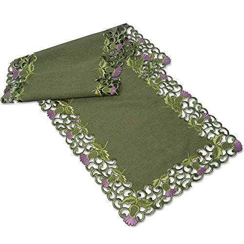 Table Runner (Large) in a Green Balmoral Thistle Design