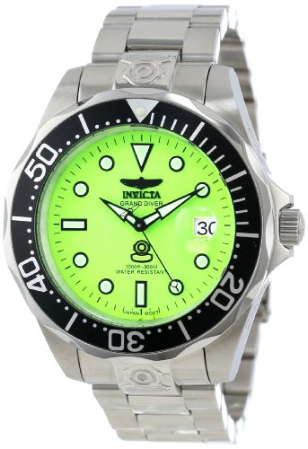Invicta Men's 10641 Pro Diver Automatic Green Dial Stainless Steel Watch