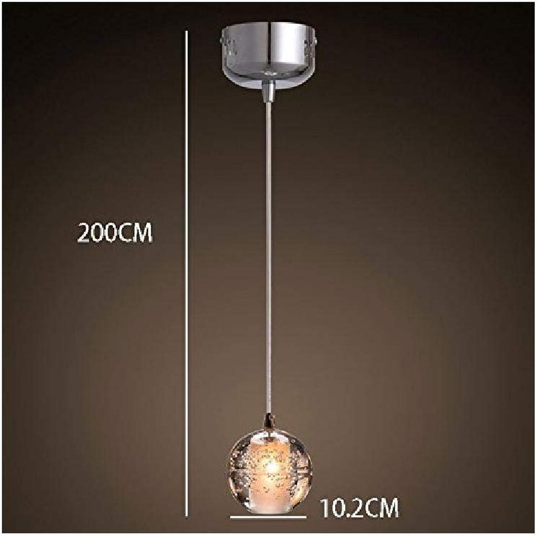 Personnalité créative lustre moderne boule de cristal simple tête d'éclairage