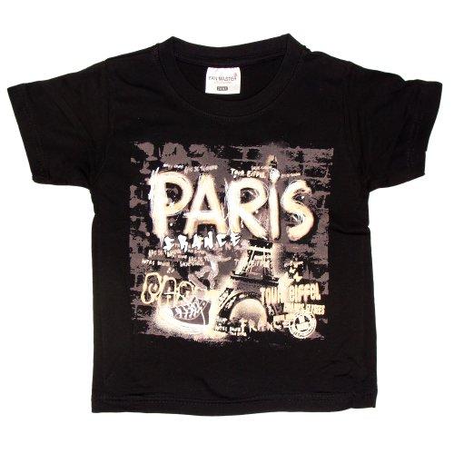 T-Shirt Garçon 'Mur Paris' - Noir (2 Ans)