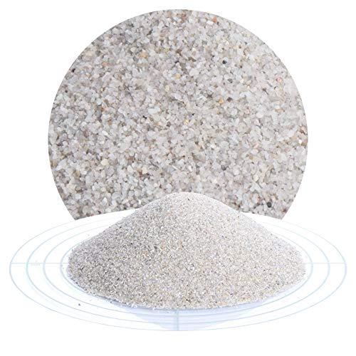 Fugensand natur 25 kg; grauer, feiner Quarzsand in verschiedenen Körnungen von Schicker Mineral, speziell geeignet für enge Fugen, Einkehrsand für Pflasterfugen (0,4-0,8 mm)