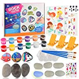 Yojoloin Pintar Piedras Niños, Kit Manualidades Pintura Juego Creativo Piedras Pintar por Numeros Regalo de Pintura para Niño Niña