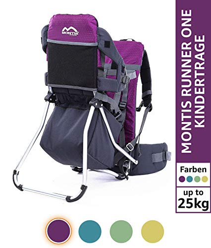 MONTIS Runner One - Mochila portabebés - hasta 25 kg (Viole
