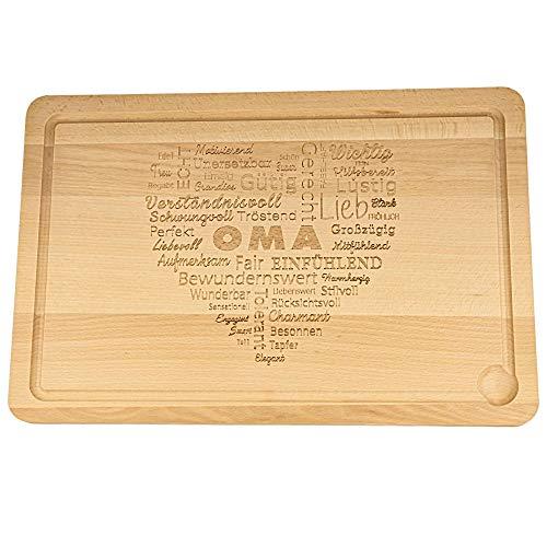 Spruchreif PREMIUM QUALITÄT 100% EMOTIONAL · XXL Schneidebrett Holz · Holzbrett mit Gravur · Küchenbrett · Wortherz für Oma · Geschenke für Oma · Geschenke für Mama · Muttertagsgeschenk