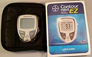 Bayer Contour Next Ez Blood Glucose Meter, Manual and Case Only
