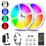 Tiras LED 10M,5050 tira led Tiras LED RGB tira led música 300 Leds strip light led con Control Remoto de 40 Claves,Impermeable, Multicolored, para Room,Casa y Cocina, Fiesta, DIY