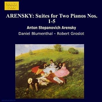 ARENSKY: Suites for 2 Pianos Nos. 1-5