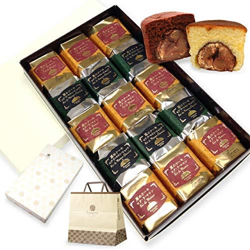 大粒栗のマロンケーキ ロアドマロン 15個入 手提げ紙袋付き お菓子 ギフト 詰め合わせ 個包装【お届け日時指定対応可能】
