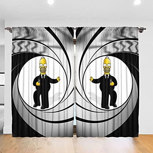 シンプソンズ 遮光カーテン 1級 カーテン 1級遮光 幅132cm丈231cm 2枚組 防寒 防音 遮光 1級 厚手カーテン 寝室 リビング用 遮熱 断熱 保温 北欧 シンプル セット 寝室 カーテンセット 無地 グレー ドレープカーテン おしゃれ 遮光遮熱カーテン 昼夜目