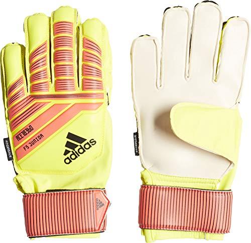 adidas Predator Fingersave Junior Torwarthandschuhe, Solar Yellow/Solar Red/Black, 3