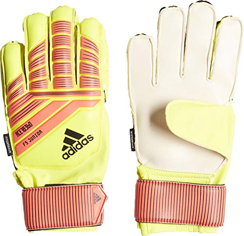 Adidas Predator Fingersave Junior Keepershandschoenen, Solar Yellow/Solar Red/Black, 3