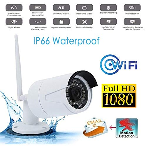 Best Price 1080P WiFi Outdoor IP66 Waterproof Wireleess Security CCTV Camera IP Night Vision Motion ...