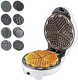 LIANGANAN Waffle Maker, Grado de Alimentos Recubrimiento...