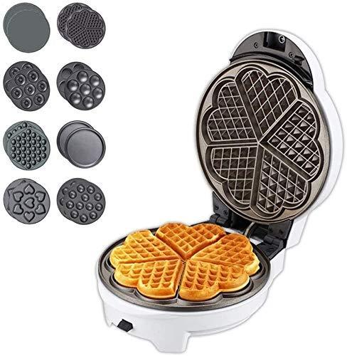 LIUCHANG Waffle Maker con Placas extraíbles Estación de la mañana Parrilla o sándwich Tostadora con Recubrimiento Antiadherente para Desayuno, Almuerzo o bocadillos (Color: Blanco) liuchang20