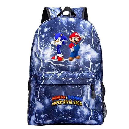 Cartoon Super Mario - Mochila ligera, diseño de Super Mario, Super Mario10, 42x12x30,