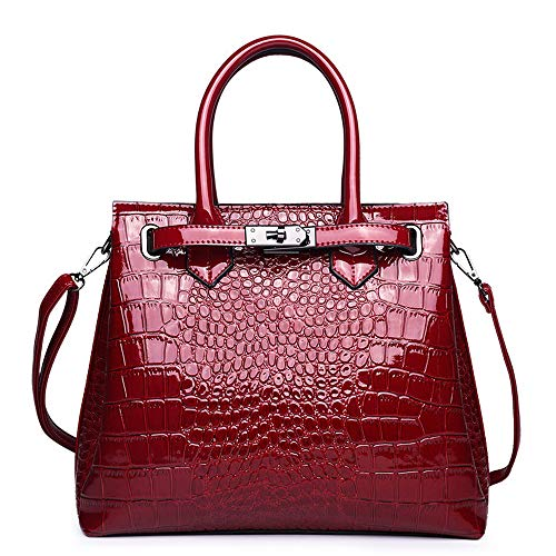 Purses and Handbags for Women Fashion Ladies Pu Leather Top Handle Satchel Shoulder Tote Bags Handbag Leather Large Capacity Elegant Purse Bag
