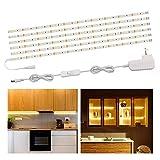 Speclux - Barra de luces LED flexible para debajo del gabinete, kit de iluminación LED para cocina, clóset, computadora, monitor, mostrador, juego de luces LED, 1200 lm, 3000 K blanco cálido