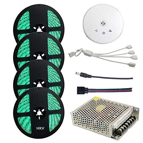 LED Streifen Licht Nicht Wasserdicht 300 leds 5050 SMD 20 Mt RGB Band WIFI Controller DC12V Netzteil Flexible Led Streifen Licht for Korridore Treppen Trails Windows. Streifen Licht