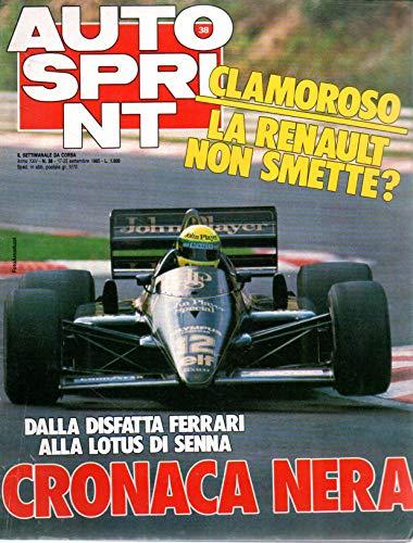 Autosprint 38 settembre 1985 Dalla disfatta Ferrari alla Lotus di Senna