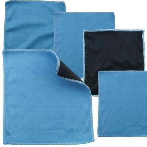 ECO-FUSED Microfiber Cleaning Cloths - 5 Pack - Double-Sided Cleaning Cloths - Microfiber and Suede Cloth for Smartphones, LCD TV, Tablets, Laptop Screens, Camera Lenses and Other Delicate Surfaces