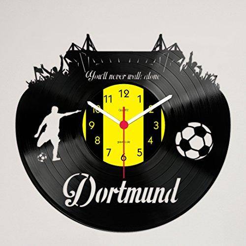 Gravinci.de Schallplatten-Wanduhr Dortmund - Never Walk Alone