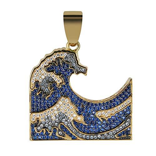 Bevroren Uit Sea Wave Pendant & Kettingen Hip Hop Gouden Kleur Chains Voor Mannen Vrouwen Geschenken Juwelen Inheemse