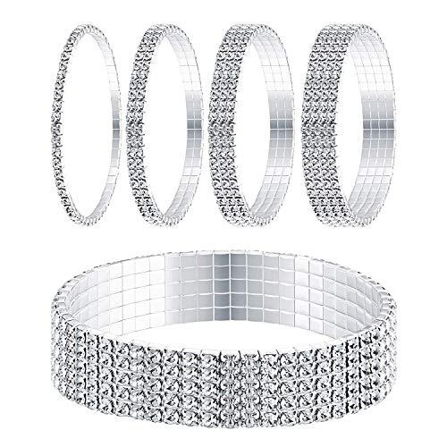 Armband sterling zilver stapelbaar gesimuleerde diamant gevlochten armband armband voor je vriendin