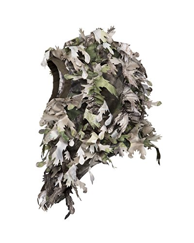 North Mountain Gear Woodland HD Camouflage Hunting Full Cover Ghillie Leafy 3D Face Mask Woodland Breathable Hunting Mask Clothing (Woodland Green)