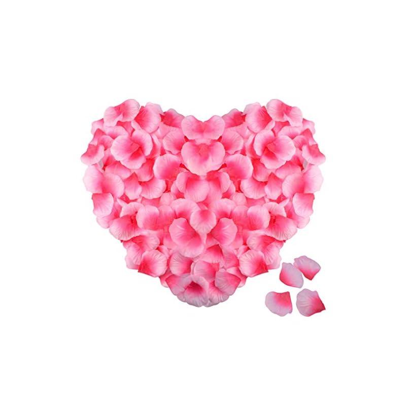 silk flower arrangements obmwang 2000 pcs silk rose petals artificial flower petals for valentine's day wedding flower decoration. pink and rose pink