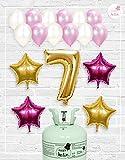 Bombona d'*Heli **Mrhelio+*Globus *aniversari Nena números (*Compleix nena 7 *anys)