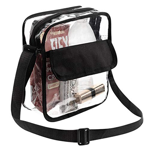 Bags For Less Clear Messenger Beg Stadium Approved Crossbody Purse Clear...