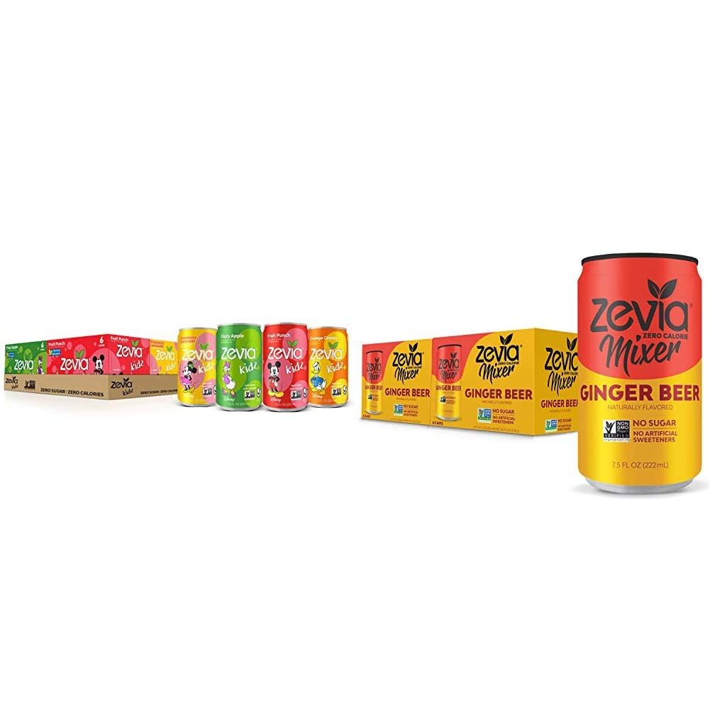 Zevia Kidz Sparkling Drink Ranking TOP9 Variety Cans Ounce 7.5 Be super welcome o Pack