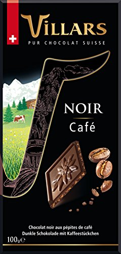 Villars Chocolate Suizo Negro con Café - 100 gr