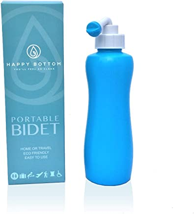 Happy Bottom Portable Bidet - You'll Feel So Clean. Handheld Portable Bidet Peri Bottle for Home or Travel. Eco Friendly, Sanitary, and Natural. by The Happy Brand Company