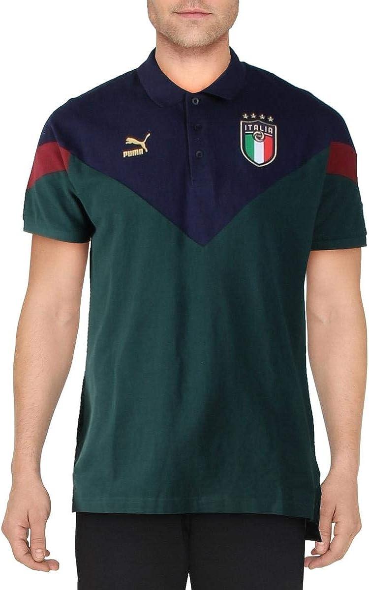 PUMA Men's FIGC Italian Football Federation Iconic MCS Polo