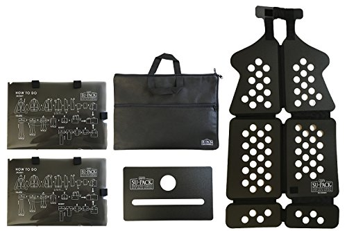LADY'S SU-PACK Clean Black (レディース スーパック クリーン 抗菌・消臭 ブラック)女性用スーツを4分の1にコンパクト収納。世界初特許ホルダーでバッグやキャリーケースに入る 世界最小級 ガーメントバッグ 5点セット