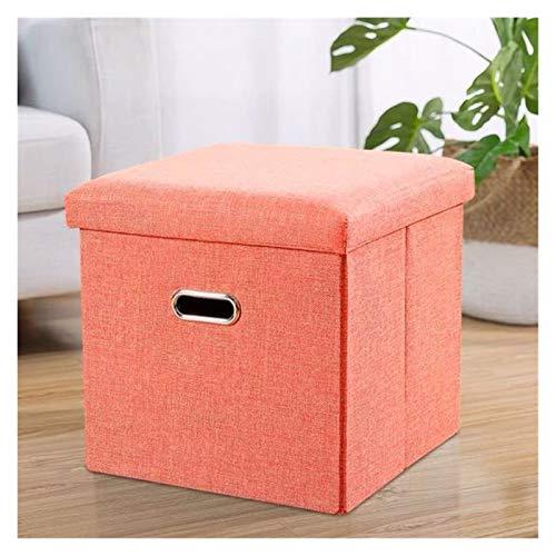 Taburete de almacenamiento Plegable portátil de almacenamiento Escabel, juguete caja de almacenamiento Dormitorio Escabel Toy Chest de calzado Cambio de heces ahorro de espacio Caja (gris) Baúl Puff