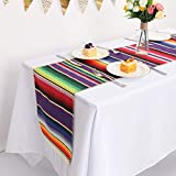 Humorous.P Pack of 12 Mexican 14inx108in Table Runners Fringe Table Runners for Mexican Party and Tribal Party