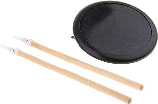 B Blesiya ダムドラム ドラム練習パッド 8インチ 弾力性 ゴム製 ドラムスティック マレット バッグ付き