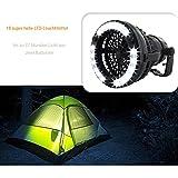 Risingmed Tragbare LED Camping Laterne mit Deckenventilator, 2.5W 2 in 1 LED Taschenlampe ideal für Camping und Notfälle Schwarz