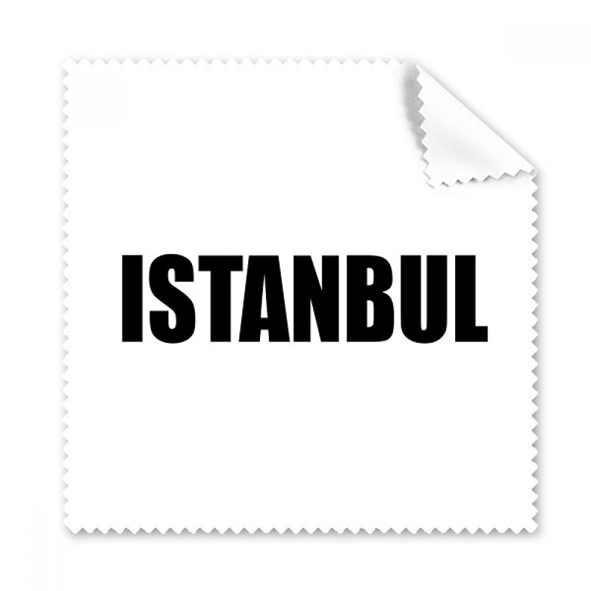 Istanbul Turkey City Name Glasses Cloth Cleaning Cloth Phone Screen Cleaner 5pcs Gift