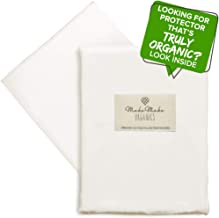 MakeMake Organics Organic Cotton Pillow Protector (Set of 2) GOTS Certified Organic Pillow Cases Zippered Breathable Pure Cotton Hypoallergenic Dust Mite Barrier Fits Standard (Pearl White, 20x26)