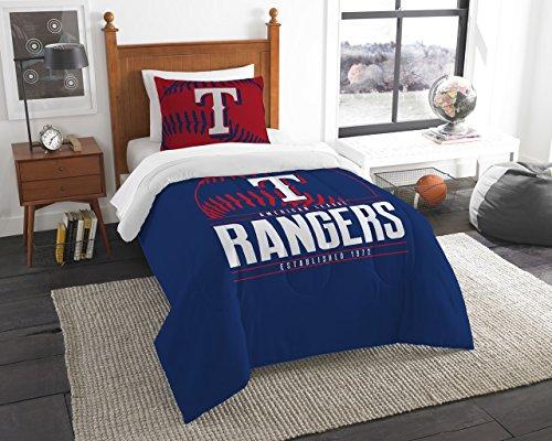 The Northwest Company Rangers Official Major League Baseball, Bedding, Printed Twin Comforter (64'x 86') & 1 Sham (24'x 30') Set