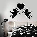 Romántico etiqueta de la pared amor corazón símbolo de dibujos animados que representa el amor y el arco salón de bodas pareja dormitorio decoración interior vinilo ventana pegatina mural
