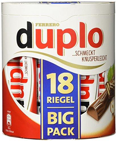 duplo - 15 Vorratspacks mit je 18 Stück, einzeln verpackte Schokoriegel, knusprige Waffeln umhüllt von einer köstlichen Vollmilchschokolade, ohne Farb- und Konservierungsstoffe